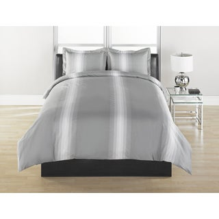 Grey Stripe Duvet Cover & Sham Set
