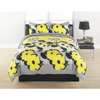 Flower Stripe 3-piece Duvet Cover Set