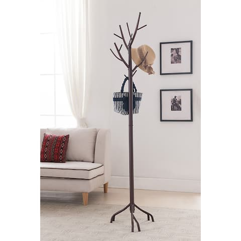 K&B Brown Tree Coat Rack