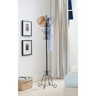 K&B Elegant Scroll Coat Rack