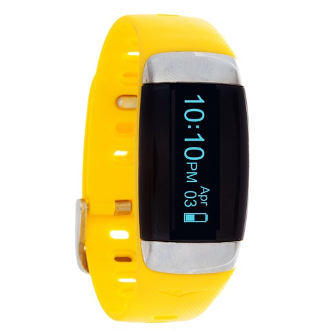 Everlast TR7 Yellow Wireless Activity Tracker & Heart Rate Monitor W/OLED Display Watch