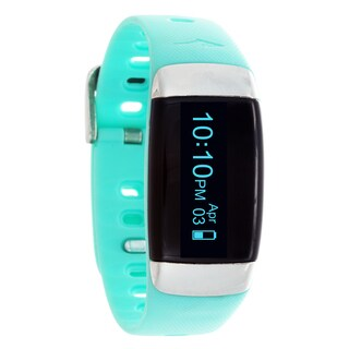 Everlast TR7 Turquoise Wireless Activity Tracker & Heart Rate Monitor W/OLED Display Watch