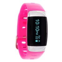 Everlast TR7 Pink Wireless Activity Tracker & Heart Rate Monitor W/OLED Display Watch