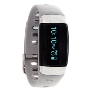 Everlast TR7 Grey Wireless Activity Tracker & Heart Rate Monitor W/OLED Display Watch