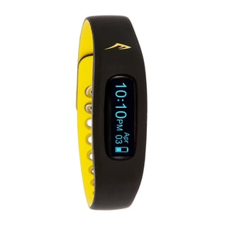 Everlast Wireless Fitness Activity Waterproof Tracker W/LED Display / Sleep Yellow TR2 Monitor Watch