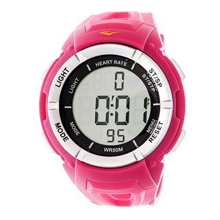 Everlast HR3 Heart Rate Monitor with Chest Strap Digital Sport Silver and Pink Watch