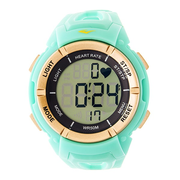 ... Rate Monitor with Chest Strap Digital Sport Gold and Turquoise Watch
