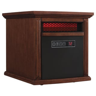 Duraflame 9HM9273-W500 Walnut Brown Livingston Portable Electric Infrared Quartz Heater