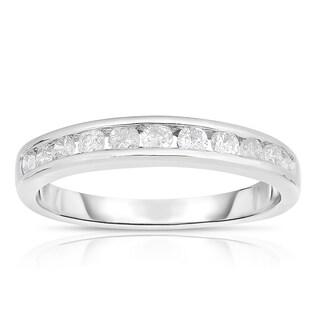 Eloquence 10k White Gold 1/2ct TDW Diamond Single-Row Band (J-K, I2-I3) - White J-K (5 options available)