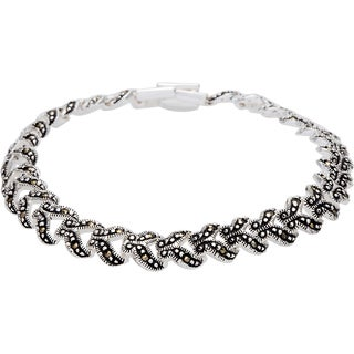 Silverplated Marcasite 7.5-inch Link Bracelet
