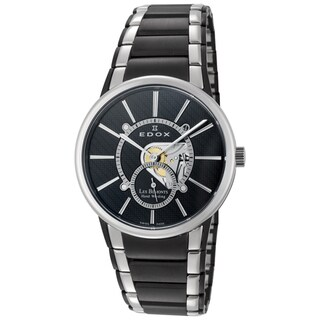 EDOX Men's ED-72011 357N NIN Black and Silvertone Watch