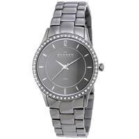 Skagen Women's  Crystal Black Stainless Steel Watch