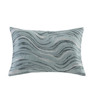 Metropolitan Home Marble Cotton Oblong Pillow