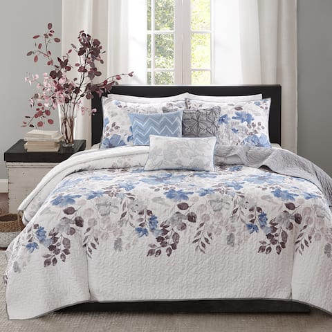 Madison Park Raven 6-Piece Quilted Coverlet Set