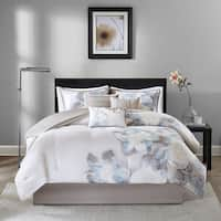 Copper Grove Burwell Watercolor Floral 7-Piece Comforter Set