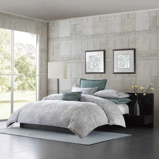 Metropolitan Home Marble Cotton 3-piece Duvet Cover Set
