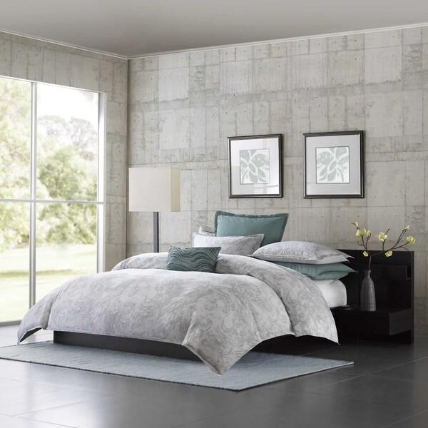 Metropolitan Home Marble Cotton 3-piece Comforter Set