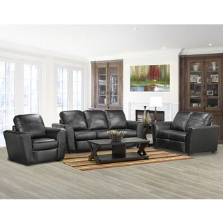 Augusta Italian Leather Sofa/ Loveseat and Chair Set