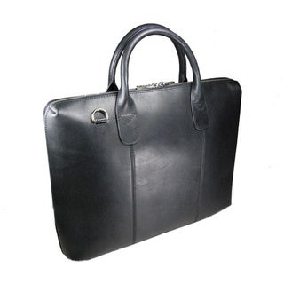 Castello Italian Oily Pull-Up Leather Slim Briefcase
