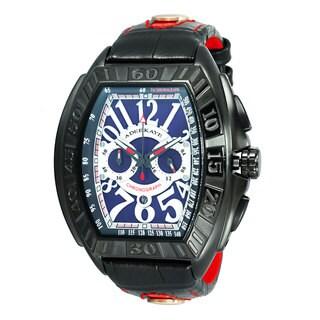 Adee Kaye Men's AK7230 Tonneau Shape Chronograph Timepiece