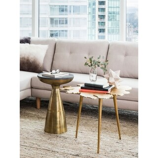 Aurelle Home Contemporary Gold Accent Table