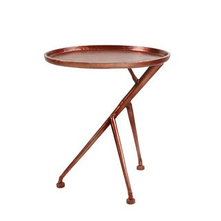 Aurelle Home Mary Side Copper Finish Side Table