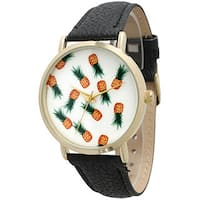 Olivia Pratt Women's Simple Pineapple Watch