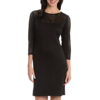 Danillo Boutique Women's Laser Cut Detail Dress