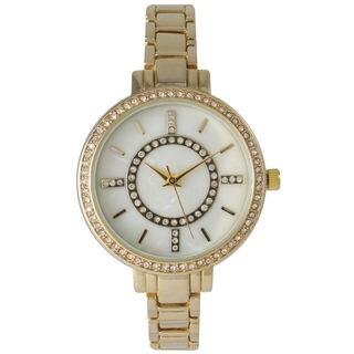 Olivia Pratt Women's Classic Crystal Metal Skinny Bracelet Watch