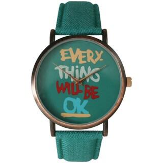 Olivia Pratt Women's 'Everything Will Be Ok' Watch