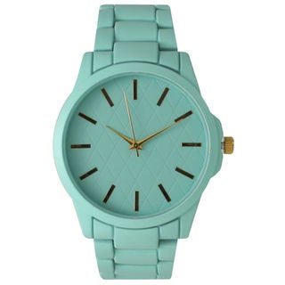 Olivia Pratt Women's Colorful Quilted Face Metal Watch