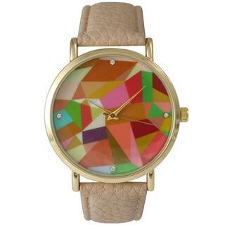 Olivia Pratt Women's Mosaic Leather Watch