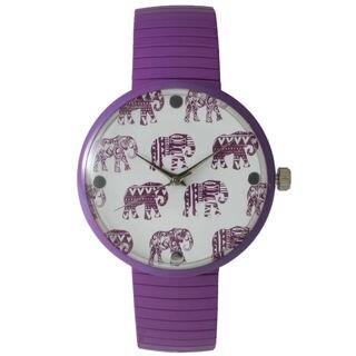 Olivia Pratt Women's Tribal Elephant Metal Stretch Watch
