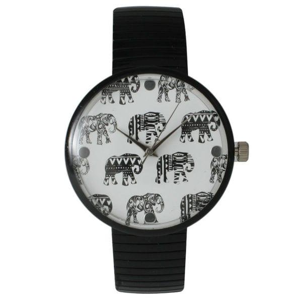 Shop olivia pratt women 39 s tribal elephant metal stretch - Watch the elephant in the living room ...