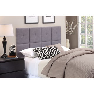 Foremost Tessa Headboard Tiles with Tuft in Gray Fabric