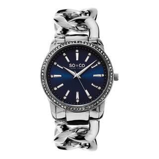 SO&CO New York Women's Quartz Austrian Crystal Stainless Steel Link Bracelet Watch|https://ak1.ostkcdn.com/images/products/10584234/P17659170.jpg?impolicy=medium