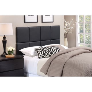 Porch & Den Elsmere Rigdon Tufted Matte Black Faux Leather Modular Wall Headboard (3 options available)