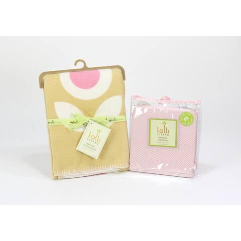 Lolli Living Brushed Cotton Floral Blanket and Sheet Set