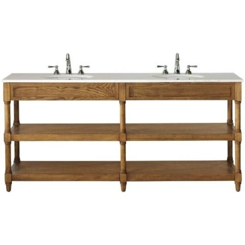 Shop Montaigne Weathered Oak Finish Double Bathroom Vanity With Two