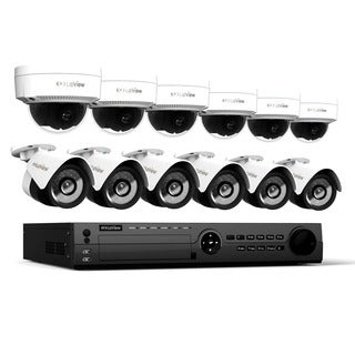 LaView 16 Channel 1080p IP True PoE NVR with 3TB HDD (6) Dome, (6) Bullet 1080p IP Full Motion Night Vision Cameras, and App