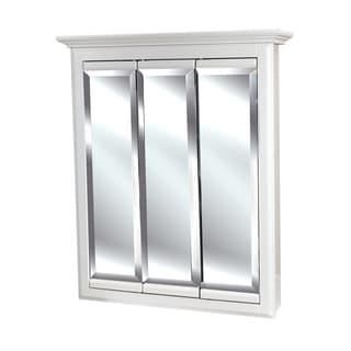 triview 24 x 30inch 3door white linen medicine cabinet