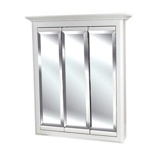 Tri-view 24 x 30-inch 3-door White Linen Medicine Cabinet (As Is Item)
