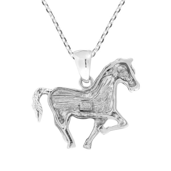 Jewels Obsession Horse Heart Pendant Sterling Silver 925 Horse Heart Pendant 22 mm