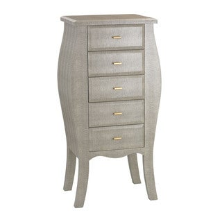 Sterling Grey Bowed Shagreen Chest