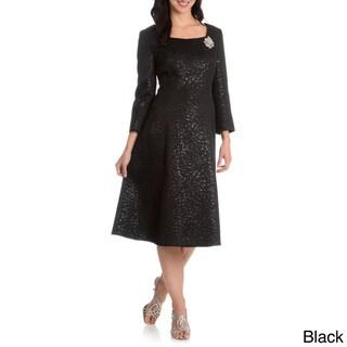 Giovanna Signature Women's Metallic Pattern Dress