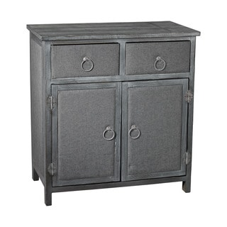 Sterling Grey Linen Covered Cabinet