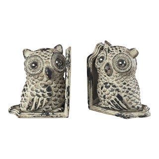 Sterling Owl Bookends