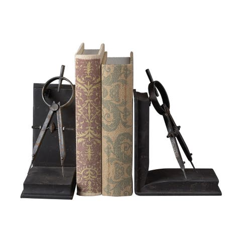 Sterling Compass Bookends
