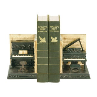 Sterling Pair Dueling Piano Bookends