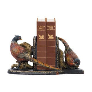 Sterling Pair of Autumn Pheasants Bookends|https://ak1.ostkcdn.com/images/products/10584414/P17659341.jpg?impolicy=medium
